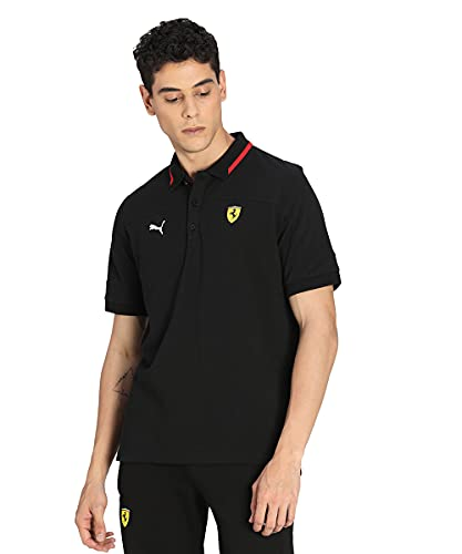 PUMA Herren Ferrari Race Polo Poloshirt, schwarz, XXL
