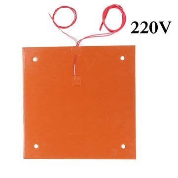 BliliDIY 750W 120V/220V 310 * 310Mm Silicone Heated Bed Heating Pad For Cr-10 3D Printer - 220#