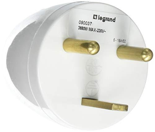 Legrand LEG90034 Adapter 2p Abteilung t 16 A, Stecker auf 1 x 1, 20 A, Weiß