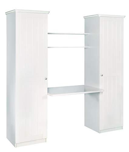 roba Schreibtisch-Wickelkombination Dreamworld 3, weiß, 2in1 Schreibtisch und Wickelkommode, zur Schreibtischplatte umwandelbare Wickelplatte, platzsparendes Kindermöbel inkl. Kleiderschrank