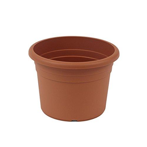 fioriera greemotion Fiona, fioriera in plastica resistente ai raggi UV, fioriera con fori inferiori, volume circa 26 l, circa Ø 45 x H 31,5