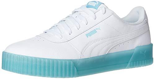Alexander McQueen by PUMA Black Label womens Carina Sneaker ,Chrystal-puma White-puma White-gulf Stream ,8