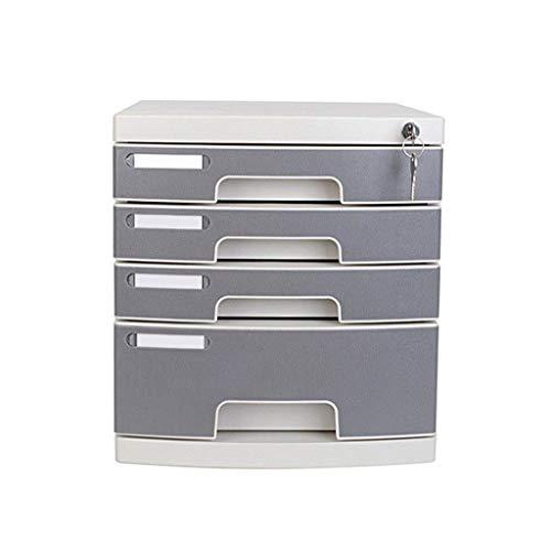 ZGQA-GQA 4-Capa plástica y estética cajón del Escritorio de la Oficina de Caja de Almacenamiento Unidad Organizador Cerradura del cajón Clasificador A4