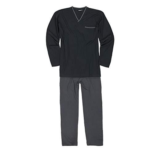ADAMO Piżama duże rozmiary do 10XL i długie rozmiary do 122 cm, czarna dla mężczyzn