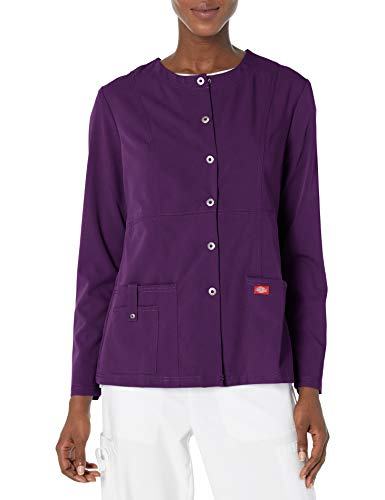 Dickies Damen Xtreme Stretch Rundhals Snap Front Warm Up Jacke - Violett - 3X-Groß