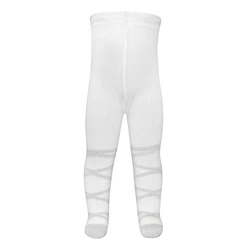 Ewers Baby- und Kinderstrumpfhose für Mädchen Ballerina Glitzer, Made in Europe, Strumpfhose Baumwolle