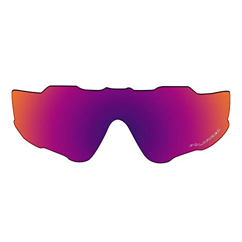 OOWLIT Replacement Lenses Compatible with Oakley Jawbreaker Sunglass Purple Red Combine8 Polarized