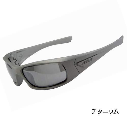 ESS 5B セラコートシリーズ スモークグレーレンズ ゴーグル サングラス チタニウム EE9006-103 日本正規品