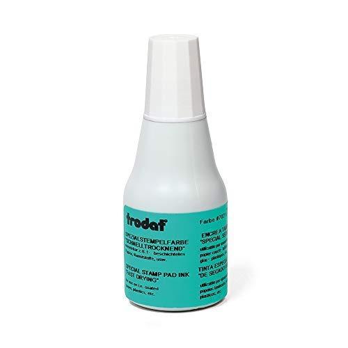 Trodat Stempelfarbe weiß für Handstempelkissen, 25 ml Inhalt in Flasche, Dokumentenecht, zum Nachfüllen, Schnelltrocknend
