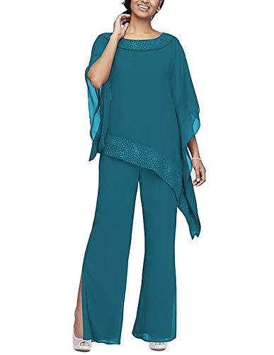 Vestido de mujer de 2 piezas con cuentas de manga larga para...