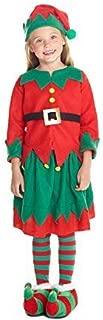 Morph Girls Christmas Elf Costume Toyshop Santas Little Helper Kids Festive Outfit – Large (Age 9-11)