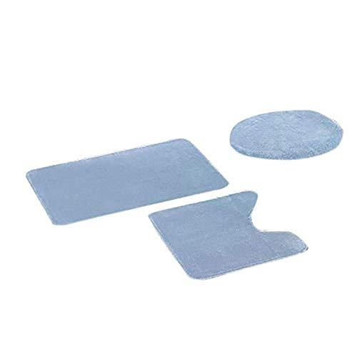 KEAINIDENI toiletmat 3 stks toiletbril anti-slip vis schaal bad mat badkamer keuken tapijt deurmatten decor warm zacht kussen WC Cover China B