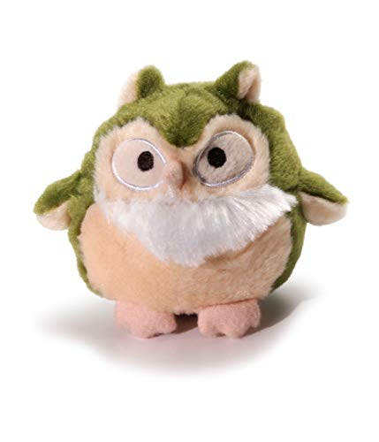 Charming Pet Howling Hoots Green Owl Plush Squeaky Dog Toy