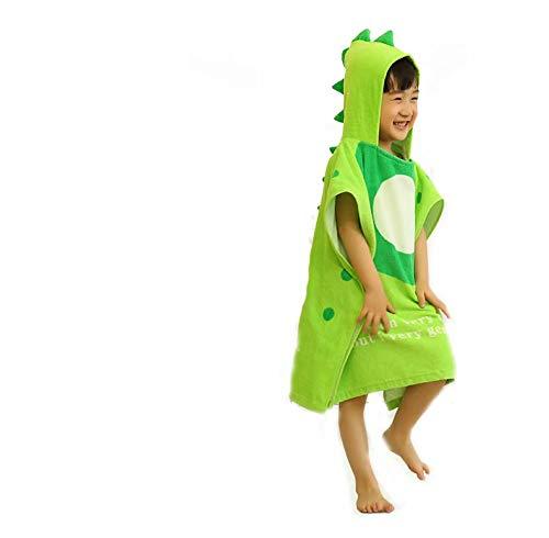 LINSUNG serviette absorbante en coton manteau avec capuchon vert Peignoir pour enfant serviette de bain pour bébé manteau de dessin animé pour enfant Green