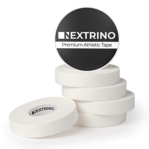 Nextrino Athletic Finger Tape (White) - XL 30' Rolls Protect Fingers and Toes in Weightlifting, Crossfit, Climbing, Martial Arts, MMA, Wrestling, Jiu Jitsu, More (6 Rolls)