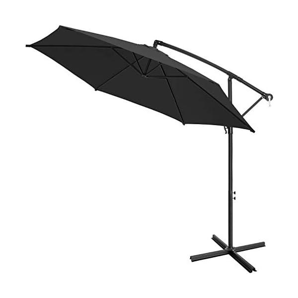 KESSER® Alu Ampelschirm Ø 300 cm mit Kurbelvorrichtung UV-Schutz Aluminium Wasserabweisende Bespannung - Sonnenschirm…