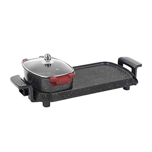 Diaod Control eléctrico Doble Recipiente for Hornear Hot Pot Barbacoa Inicio Maifan...