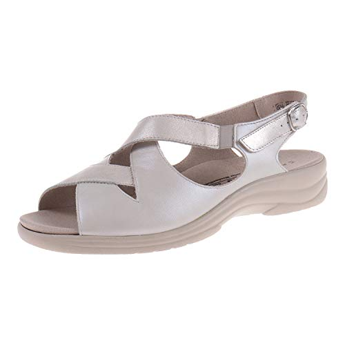Solidus Damenschuhe Sandale Moni Weite M Chiaccio Crema 7400940391 (37.5 EU)