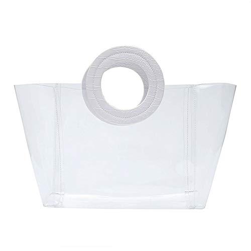 SimpleLife Bolsa de Playa Transparente para Mujer Bolsos de Verano Grandes Bolsos Casuales para Damas niñas