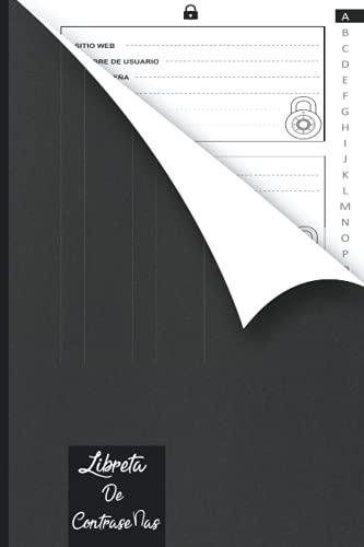 Libreta De Contraseñas: Que no se te olvide para apuntar contraseñas: Una cuaderno para organizar tus datos de acceso, nombres de usuario y claves de internet