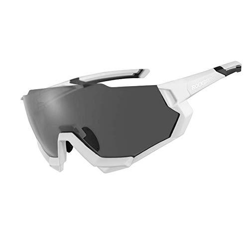 WOXING Ciclismo Gafas,Polarizadas Antideslumbrantes Gafas De Sol,Vintage Miopía Correr Conducir Ciclismo Deportivas,Mujer Hombre Aire Libre Deportes Viajes Esquiando-Blanco 17cm(7inch)