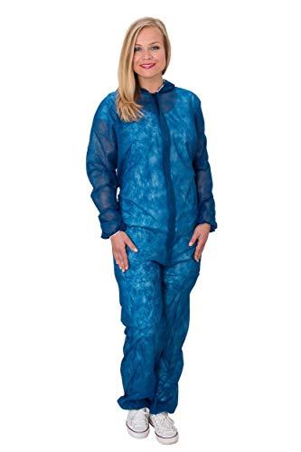 10 x Maleroverall blau Größe L - Einweg Maler Overall Maleranzug Fastnacht Karneval Freizeit