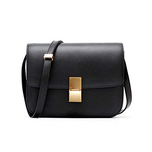 ZXC Bolsa de tofu, Bolso cuadrado pequeño de primavera coreana, bolso de mensajero estilo retro, bolso de mensajero de un solo hombro para mujeres, negro