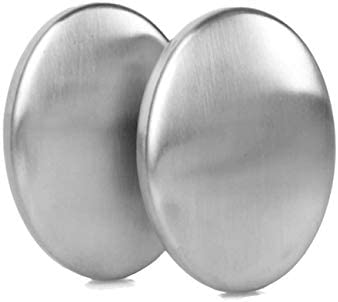 MOOZON 2 PCS Stainless Steel Soap Magic Metal Odor Remover Bar Eliminating Smells Like Fish product image