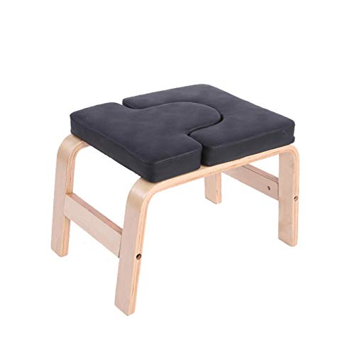 JHDS Balanced Yoga Headstand Bench?Stand Yoga Chair For Family, Gym - Wood and PU Pads - Relieve Fatigue and Build Up BOD?for Exercise and Fitness At Home Delightful
