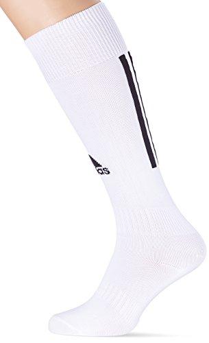 adidas Herren Fußballsocken Santos 3-Stripes, Weiß (White/Black), 37-39, Z56222