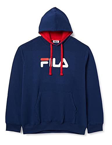 FILA Męska bluza z kapturem Classic Pure Hoody z kapturem, grantowy, XL