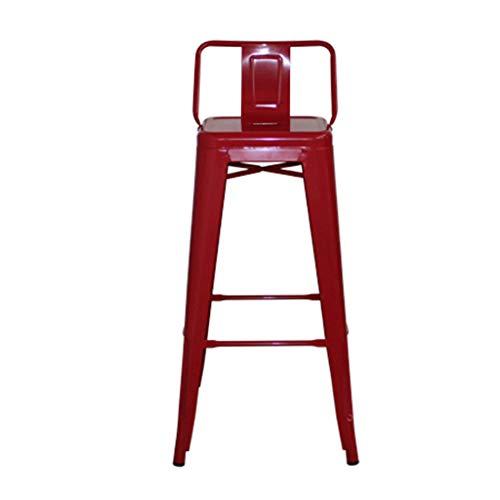 Barkruk, barkruk, ijzer, kruk, hoge stoel 66cm Rood