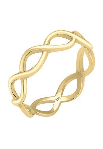Elli PREMIUM Ring Damen im Infinity Trend in 375er Gelbgold