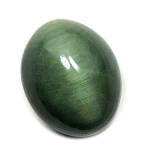 Gemsyogi 10X8 MM natürliche Katzenauge lose Edelstein grün ovale Form Cabochon Stein für Kunst und Handwerk