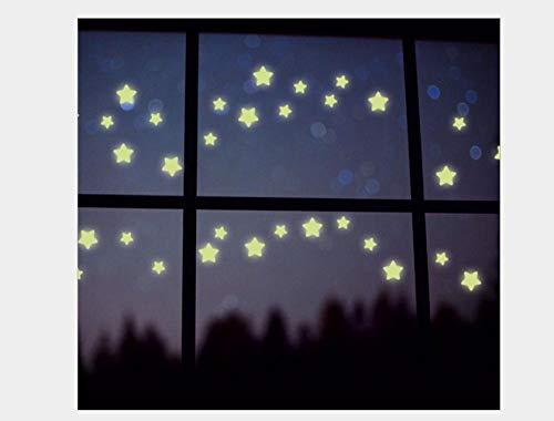 Pegatinas De Pared Decorativas Pegatinas Luminosas De Estrellas, Pegatinas Fluorescentes, Pegatinas De Pared Que Brillan Por La Noche 21 * 29,7 Cm