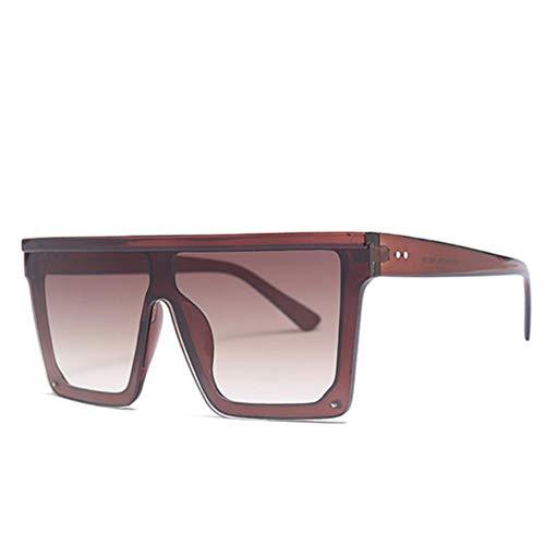 UKKO Gafas de sol Las Mujeres Maxi Gafas De Sol Grande Fuera Cuadrada Marco De La Vendimia Uv400 Gafas Para Hombres,C3 Tea.Tea