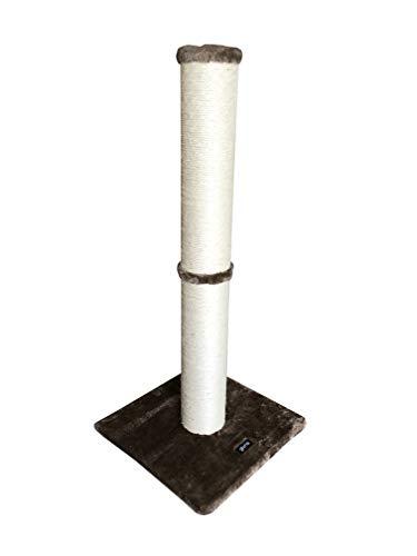 Gloria - Rascador para Gatos - Juguete para Gatos - Torre Rascadora para Gatos - Modelo Loira - 36 x 81.5 x 36 cm - Color Marrón - Poste Forrado en Sisal - Accesorio con Pelota para Juego
