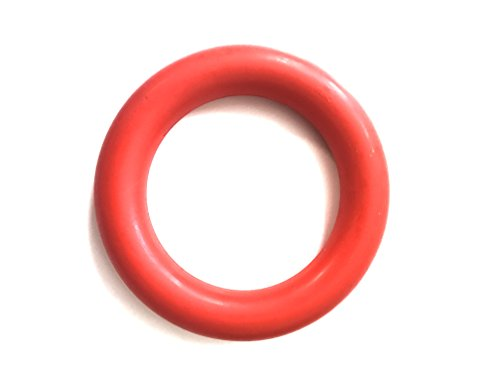 Natural and Durable Rubber Dog Toy Ring for Aggressive Chewers and Tug of War and Fetch