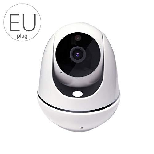 Timlatte Cámara IP inalámbrica 1080P HD Auto Inteligente de Red doméstica WiFi Noche versión 2-Way Audio Cámara Enchufe de la UE