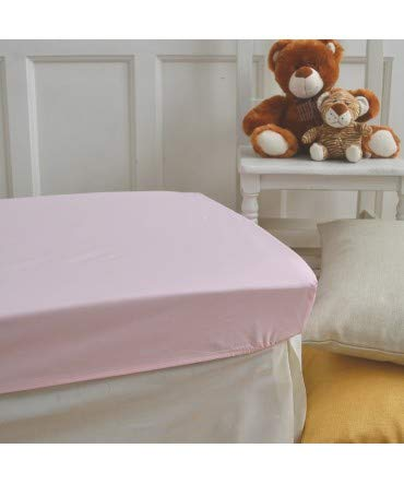 10XDIEZ Sabanas bajeras Cuna Poliester algodón Rosa - Medidas sabanas bebé - Maxicuna (70x140cm)
