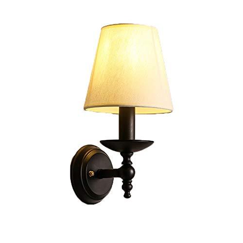ZZYJYALG. Lampada di ferro nero Vintage corpo parete chiara Sconces for la lettura di lavoro Apprendimento negozio Interni Illuminazione E27 montaggio a parete Light Fixture riparo della parete di