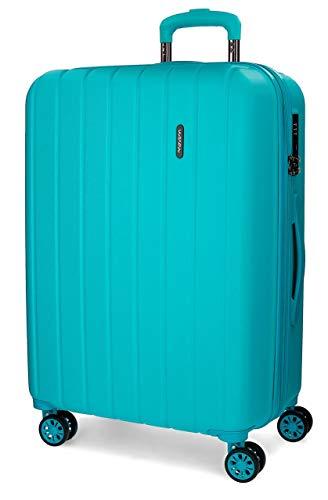 Movom Wood Maleta grande Azul 52x75x33 cms Rígida ABS Cierre TSA 109L 4,9Kgs 4 Ruedas Dobles Extensible