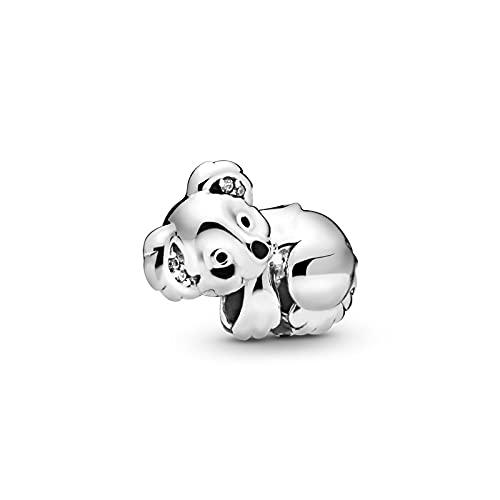 ONLLKL Authentique Pandora 925 Pendentif en Argent Sterling Bricolage Réel Mignon Bébé Koala Fit Original Bracelet Bracelet pour Les Femmes d'anniversaire De Mode Bijoux Cadeau