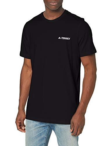 adidas Rock Logo tee - Camiseta de Manga Corta para Hombre, N'est Pas Applicable, Hombre, Color Negro, tamaño Extra-Large