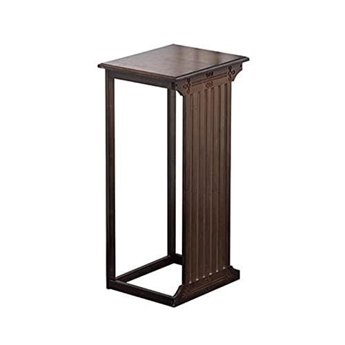 Crazy stool Stand Plant, Wooden Wooden Wooden Soggiorno Tavolino Retro Decorare Consolle Tavoli Coffee Shop Dinning Room High Table(Size:35.5 * 29 * 80CM)