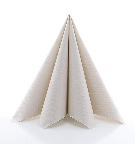 Sovie HORECA Airlaid-Servietten 40x40 cm | hochwertige Einweg-Servietten | extrem saugstark und stoffähnlich | ideal für Hochzeit & Partys | 50 Stück | (Pepple Stone)