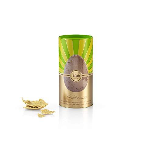 Regalo Pasqua - Uovo di Cioccolato Bianco, Pistacchio e Limone Mediterraneo In Cilindro di Metallo 250g - con Sorpresa - Senza Glutine
