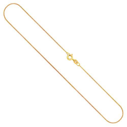 Goldkette, Panzerkette flach Gelbgold 333/8 K, Länge 70 cm, Breite 1.1 mm, Gewicht ca. 2.3 g, NEU