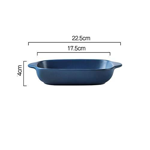 Plat de Cuisson 2 pièces Plateau de Cuisson en vitrocéramique Four ménages Micro-Ondes dédié Cuisson Bowl Moule à pâtisserie Lasagne casseroles (Couleur : B, Size : One Size)