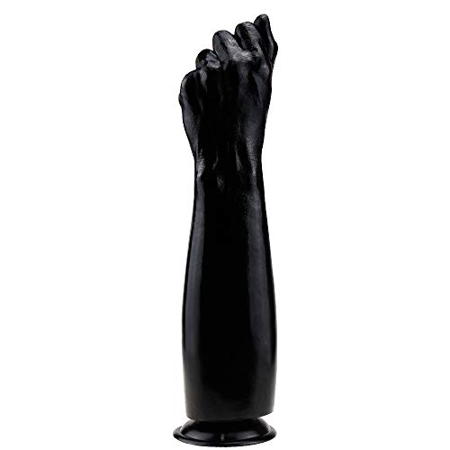 Gyinx 13.8 in Diameter Oversized Soft fist Style Soft Realistic Toy with Suction Cup for Hands Ðildǒ Woman Sêxy Tõy Free Play (Color : Black, Flesh-Colored) Gyinx (Color : Black)